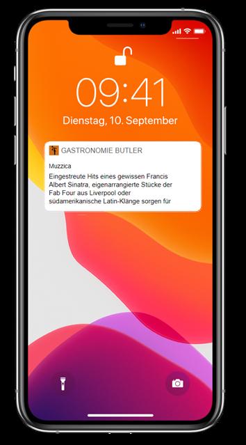 Push-Benachrichtigung Ihrer App über ein Event