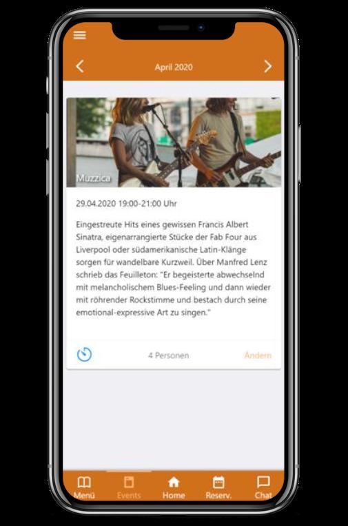 Vorschau eines Events in Ihrer App
