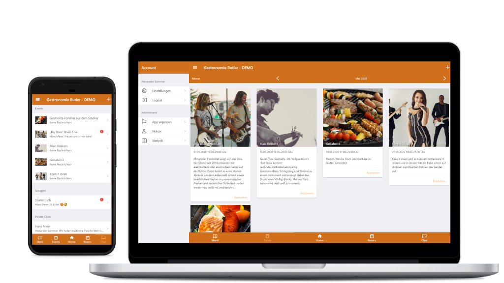 iOS und Android App auch am PC Verwalten